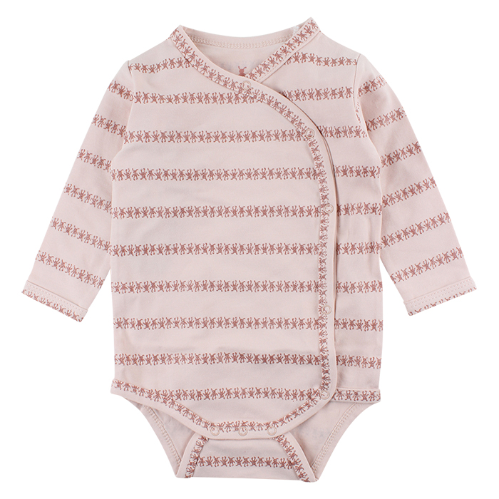 41601 Small Rags Gavi LS Wrapover 50-80 cl Sepia Rose