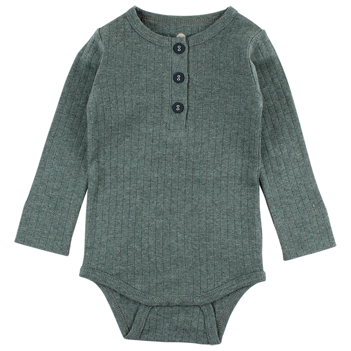 90770 En Fant Clothes Horizon LS Body-Oekotex 50-86 cl Duck Green